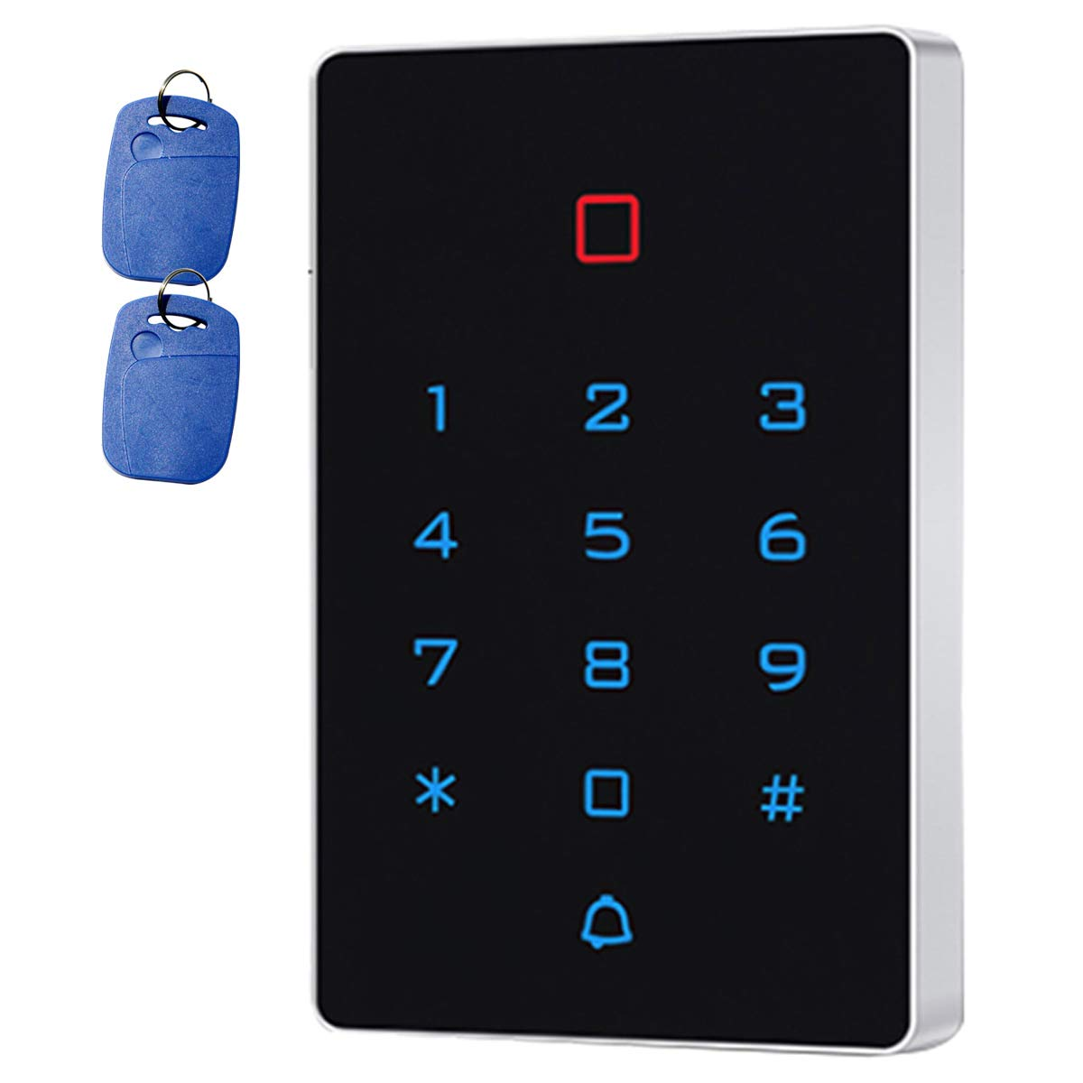 Supreform IP67 Outdoor Waterproof Universal 12-24VDC Digital Touch-Key Wired Keypad for Garage Door, Access Control Systems and Gate Opener, Code or ID Card Access