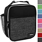OPUX Premium Insulated Lunch Box   Soft Leakproof School Lunch Bag for Kids, Boys, Girls   Durable Reusable Work Lunch Pail Cooler for Adult Men, Women, Office Fits 6 Cans (Heather Charcoal)