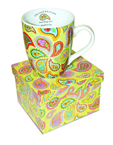 Divinity Boutique Inspirational Ceramic Mug - Paisley, Numbers 6:24, The Lord Bless You and Keep You, , Multicolor
