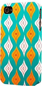 Vintage Teal Diamond Pattern Dimensional Case Fits Apple iPhone 5 or iPhone 5s