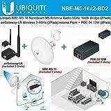 Ubiquiti NBE-M5-16 (2Pack) Nanobeam Antenna + airGateway LR (2Pack) Access Point