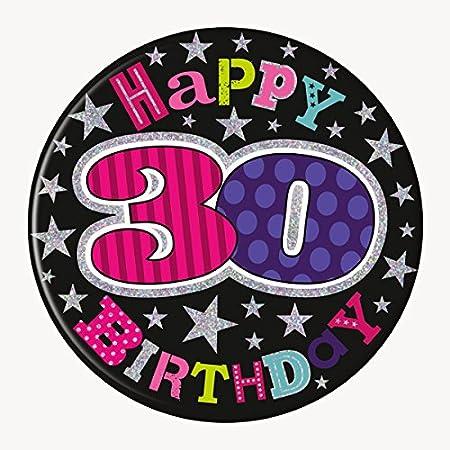 SIMON ELVIN - Gigante Happy 30th cumpleaños Insignia Edad 30 ...