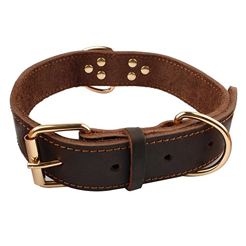 Beirui Brown Leather Collar 15 19