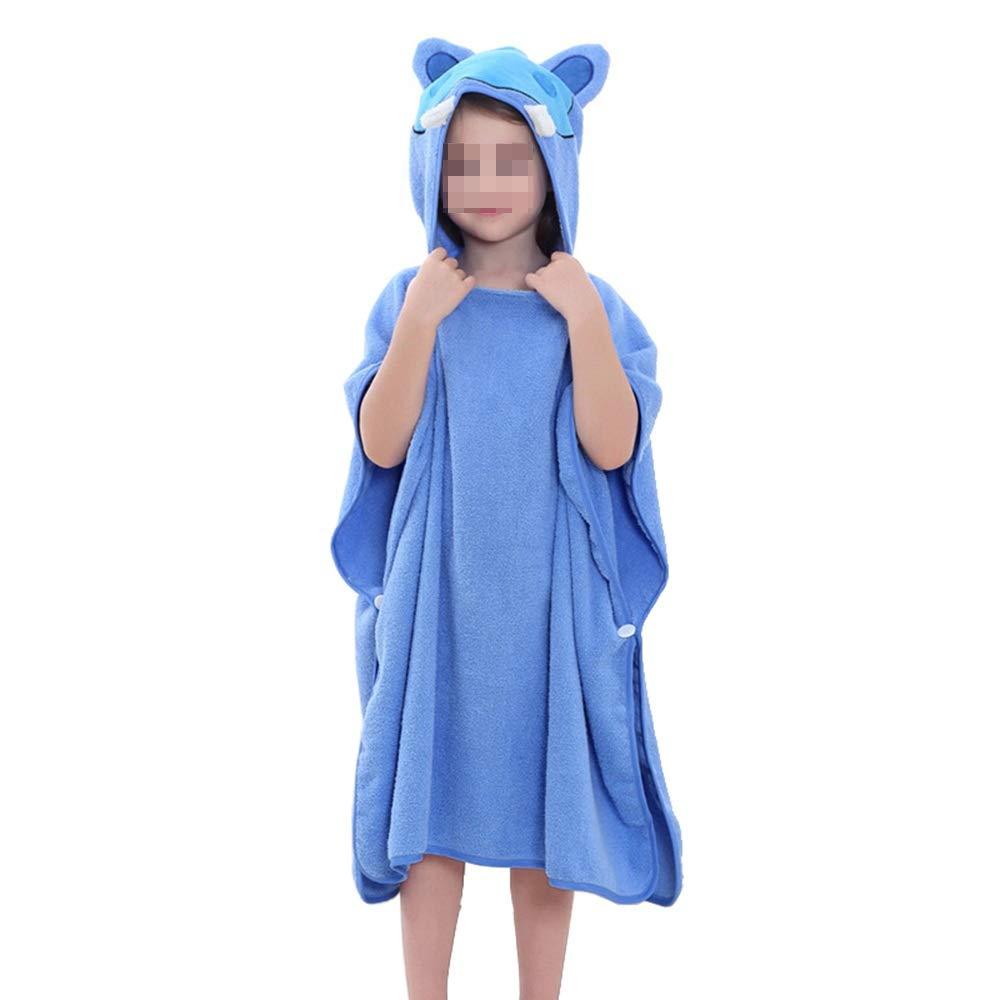HUACHEN-LS Towel Beach Bath Towel for Girls/Boys Kids Children Hooded Bath Bathroom Daily (Color : Blue)