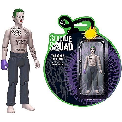 Funko Joker [Shirtless] Action Figure x Suicide Squad Mini Action Figure + 1 Free Official DC Trading Card Bundle (12672)