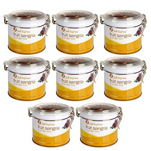 Adagio Teas Clear-Top Tin Herbal Tea, Fruit Sangria, 4 Ounce (8 pack) by Adagio Teas