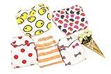 BabyEnesu Toddler Girls Cotton Underwear Cartoon Underpants 5 Pack (Medium)