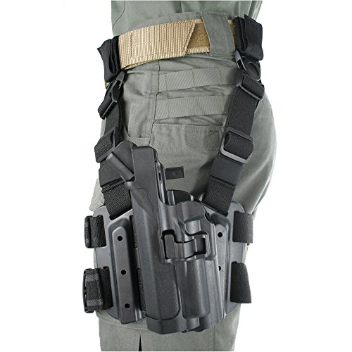 BLACKHAWK! Serpa Level 3 Light Bearing Tactical Holster for Xiphos NT Light, Black/Size 04, Left Hand (Beretta 92/96/M9 Std or A1 w/rails (NOT Brig/Elite)