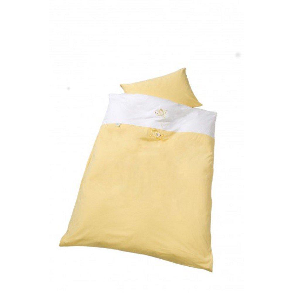 Odenw/älder 2049-400 Gr.80//80cm Jersey Bettw/äsche gelb Fische