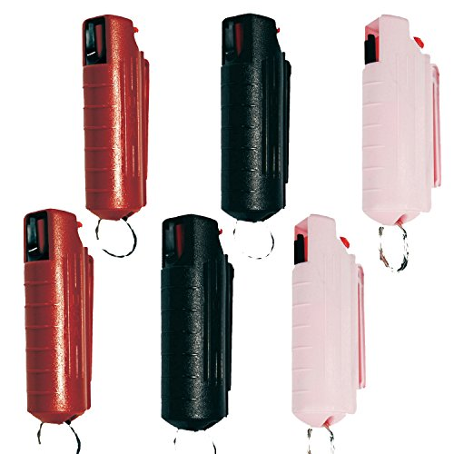 1/2 Oz Wildfire 18% Hard Case Keychain Pepper Spray Bundle - Choice of Colors - Lot of 6 Pieces (Mixed Wildfire)