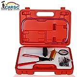 Hand Held Vacuum Pump Tester Set Vacuum Gauge and Brake Bleeder Kit for Automotive with Adapters,...