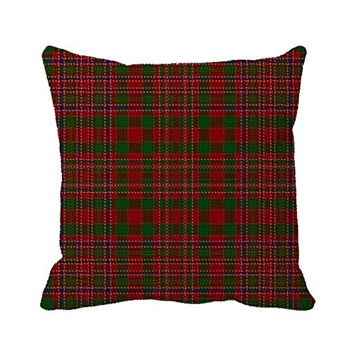 Starings Pillowcase Scottish Clan Macalister Tartan Outdoor Print Pillow Cover 16in ()