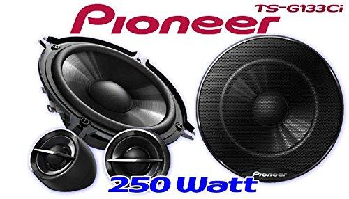 Pioneer TS-G133Ci 13cm Lautsprechersystem JUST SOUND best choice for caraudio Einbauset f/ür Peugeot 207 CC