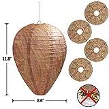 4 Pack Wasp Nest Decoy Hanging Wasp Deterrent for