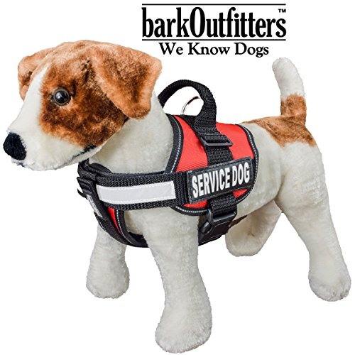 barkOutfitters Service Dog Vest Harness + 50 ADA Info Cards Kit (Red, XS (14'' - 17'' Girth) ) by barkOutfitters (Image #8)