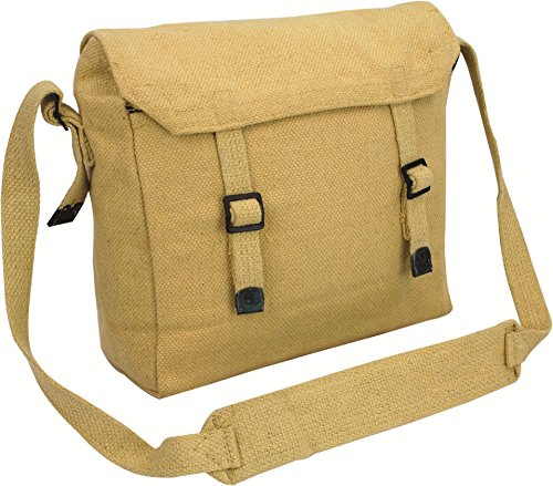 Haversack Cotton Adjustable Bag Webbing Mens Canvas Beige Highlander qC1Ox