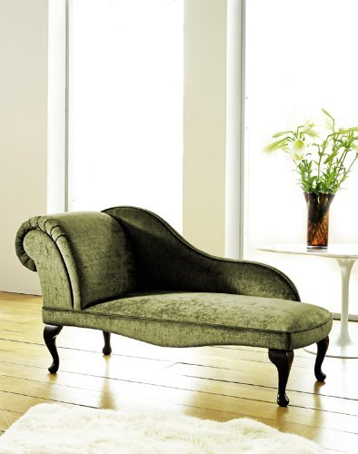 Inspirations MODERN CHAISE LONGUE IN SAGE GREEN VELVET: Amazon.co.uk on chaise sofa sleeper, chaise furniture, chaise recliner chair,
