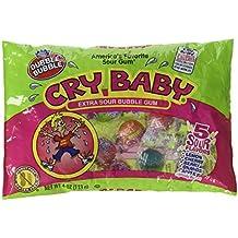 Dubble Bubble, Bubble Gum Cry Baby Extra Sour Candy (4 Ounce Bag)