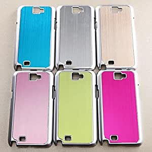 SHOUJIKE Solid Color Wire Drawing Cover With Stand for Samsung Galaxy Note 2/N7100 Case (Assorted Color) , Silver