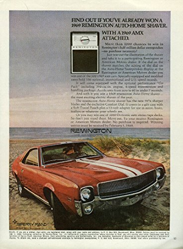 Find Out If Youve Won Remington Auto Home Shaver With Amc Amx Attached Ad 1969