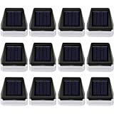 Maggift 12 Pack Solar Step Lights Outdoor Waterproof, Solar Powered Fence Lights Deck Lights Outside Night Lighs Decor…