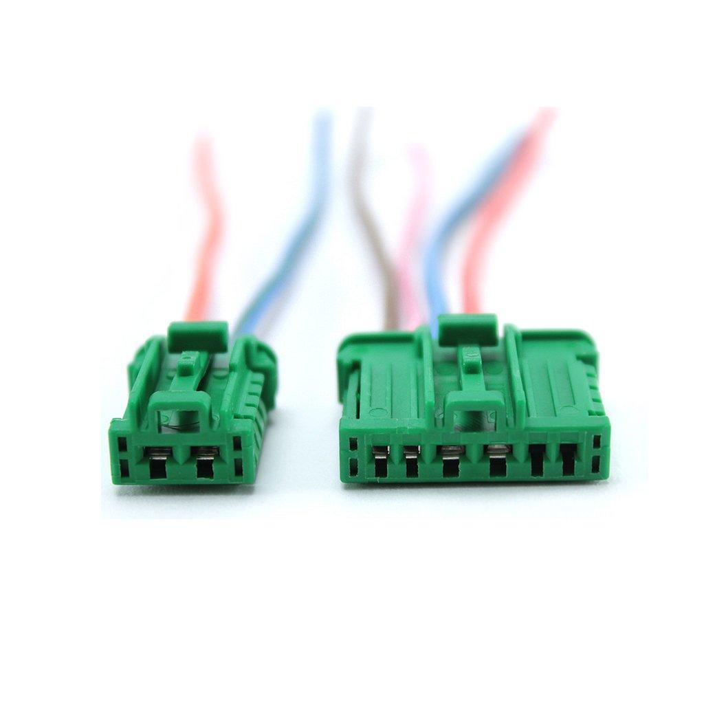Toma de Cableado Eléctrico Reparación de conector para resistencia de calefacción - Módulo de ventilación: Amazon.es: Electrónica