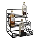 Mind Reader IRSYR12-BLK Iron, Wire Compartment Organizer, Storage for Syrup, Wine, Dressing, Black-12 Capacity, One Size 12 Bottle Holder