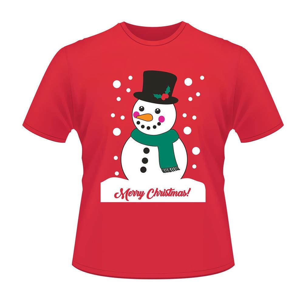 af1e3281bbc Amazon.com  Unisex Santa Christmas T Shirt for Holiday Season Gift Short  Sleeve Shirts Plus Size  Clothing