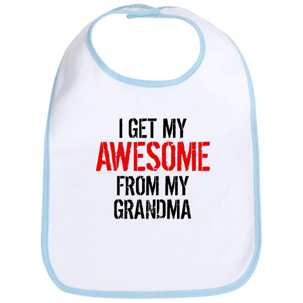 CafePress I Get My Awesome From My Grandma Bib Cute Cloth Baby Bib Toddler Bib