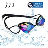 vetoky Swim Goggles Swimming Goggles No Leaking Anti Fog UV Protection Triathlon Mirrored Racing Goggles for Adult Men Women Youth Kids Child - Swim Like A Pro