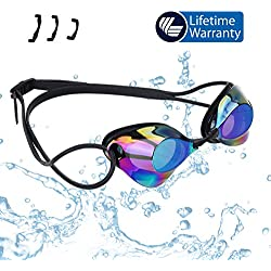Swimming Goggles—Vetoky Mirrored Swim Goggle Anti Fog UV Protection No Leaking Comfortable for Kids Girls Boys Adults Women Men - Swim Like A Pro