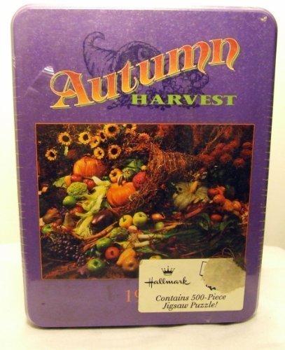 Hallmark Autumn Harvest 500 Piece Jigsaw Puzzle in Tin 1995