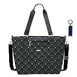Baggallini Avenue Laptop Tote Travel Handbag ID Tag & Key Chain (diamond print)
