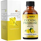 Maple Holistics Pure Evening Primrose Oil for Face, Skin, Hair - Cold Pressed for Greater Efficacy, 59ml
