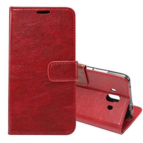 ZITEZHAI-Fashion case for Huawei Mate 10 Crazy Horse Texture Horizontal Flip Case with Holder & Card Slot & Photo Frame & Wallet (Color : Red)]()