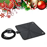 Allwithone HDTV Antenna Super Thin Digital Indoor HDTV Antenna - 50 Miles Range Free HD Television and Connects Directly to Your TV