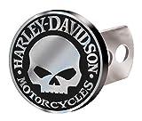 motorcycle trailer hitch harley - Harley-Davidson Hitch Plug Willie G Skull Brushed