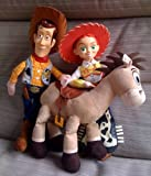 "HUGE 18"" Disney Toy Story Bullseye Jessie & Woody Plush dolls"