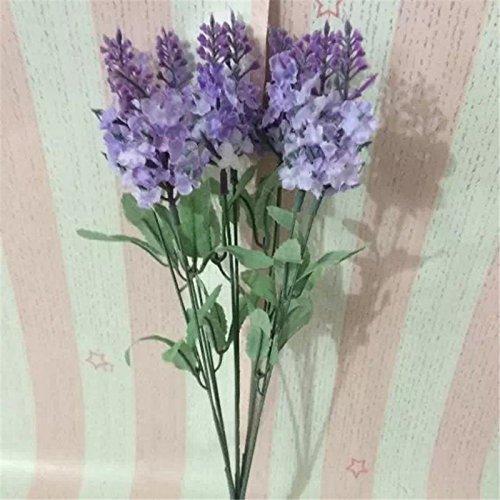 Silk Petals Baby Dresses - Nyalex 10 Heads Flores Artificial Lavender Silk Plants Flower Bouquet Wedding Home Decor Decorative Fake Flowers Decoration [Light Purple]