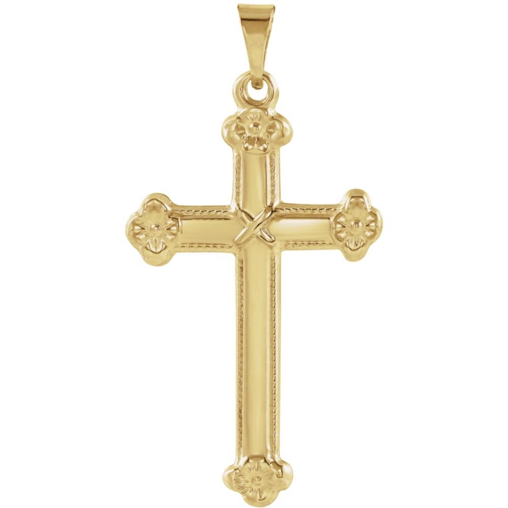 Jewels By Lux 14K Yellow Gold 25x16mm Cross Pendant