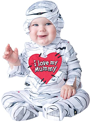 InCharacter Costumes Baby's I Love My Mummy Costume, White, Large by Fun World