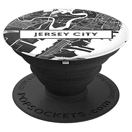 New Jersey City Street Map & Skyline Travel Gifts - PopSockets Grip and Stand for Phones and Tablets