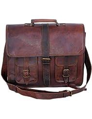 Komals Passion Leather 18 Inch Messenger Laptop Shoulder Briefcase Office Bag