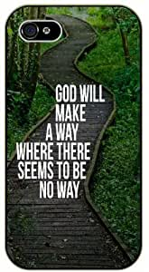 God will make a way where there seems to be no way - Wood path, green forest - Bible verse For Ipod Touch 5 Case Cover black plastic case / Christian Verses