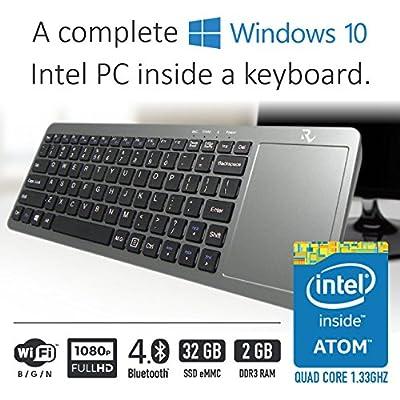 Intel Mini Desktop inside a Keyboard with Windows 10