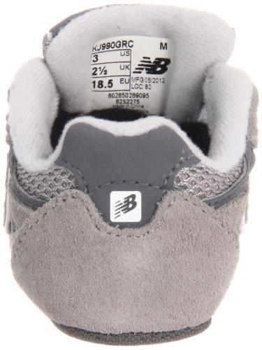 New Balance - - Unisex-Baby 990v3 Infant Laufschuhe Grey with White