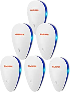 Ultrasonic Pest Repeller 6 Pack, Newest Electronic Home Pest Control Repeller, Indoor Pest Repellent Ultrasonic Plug In for Flea, Insects, Mosquito, Mice, Spiders, Ants, Rats, Roaches, Bugs, Non-Toxic