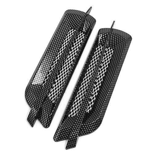 - AUTUT Car Intake Grille Vent Sitcker Carbon Fiber Pattern 2 Pcs