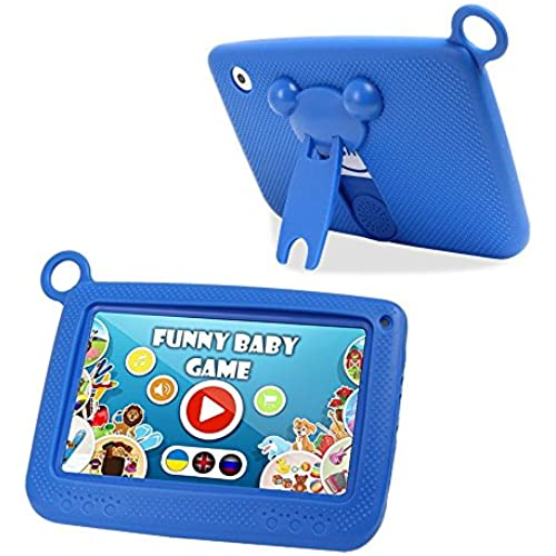 Ogima Kid Pad 7 Inch Android Tablet Touch Kids Tablet 7 Quad Core with Games Dual Cameras Wi-Fi Google Play Store w/IWAWA Learning APP Coupons