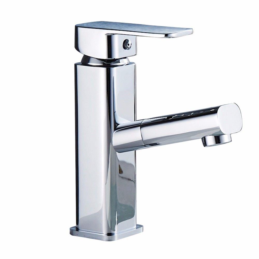 NewBorn Faucet Wasserhähne Warmes und Kaltes Wasser Größe Qualität Chrome-ColGoldt Edelstahl Ziehen heißen und Kalten Becken an der Wanne Personenwaage Tap
